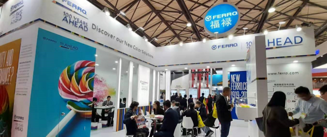 Ferro Booth at CHINACOAT 2019 - 24th China International Exhibition for Coatings, Printing Inks and Adhesives