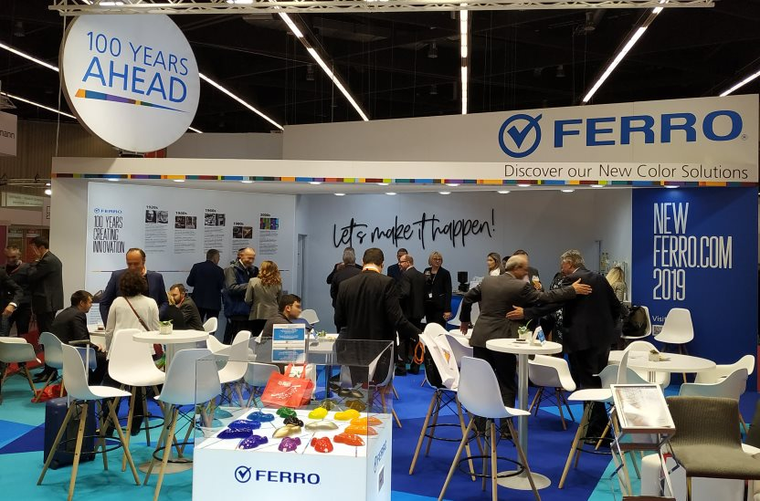 Ferro's booth at European Coatings Show (ECS) in Nuremberg, Germany, drew heavy traffic from customers and prospects alike, who viewed our offering and met with the Ferro Pigments team to discuss applications for our Color Solutions for Coatings & Ink.