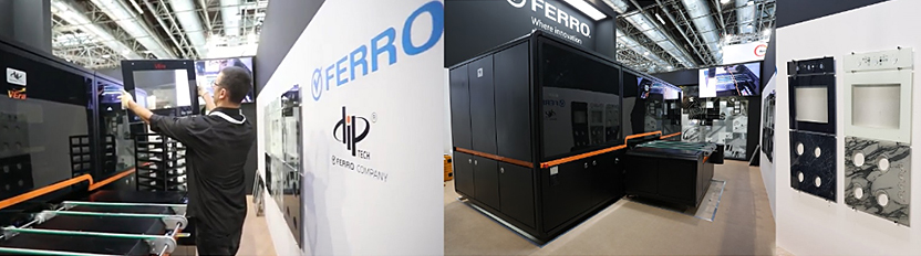 The groundbreaking VEra printer is perfectly complimented by Ferro's high-performance Ultra-FIX digital inks for appliance glass.