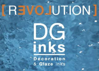 Ferro's DG Inks are environmentally friendly low VOC inks based on water-compatible solvents featuring a complete line of vibrant ink colors, decoration inks and glazing inks. DG Inks are  developed specifically for large capacity digital printheads used in large scale ceramic and tile decoration processes.